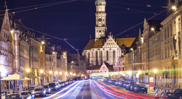 Augsburg, Germany cityscape.